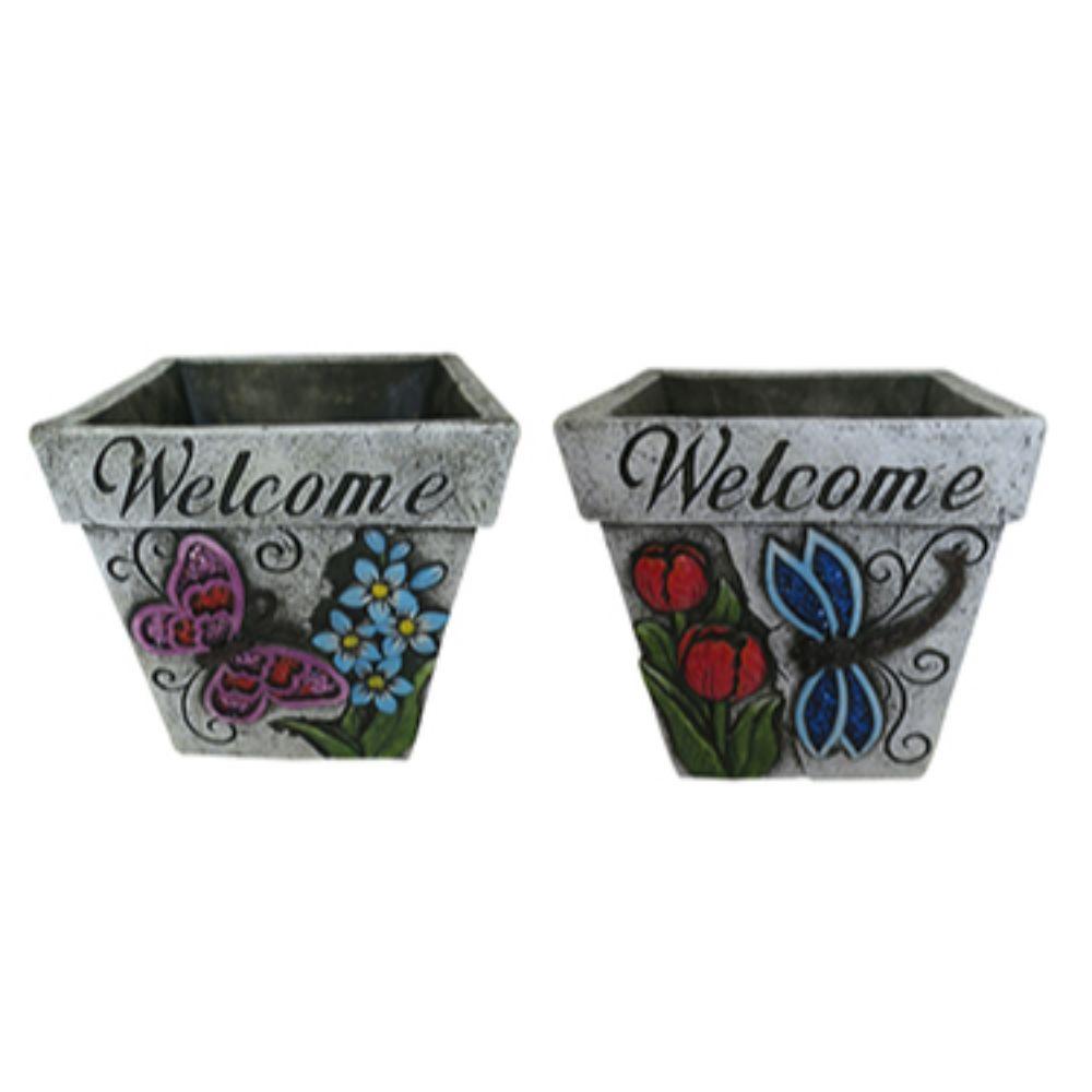 Welcome Flower Pots