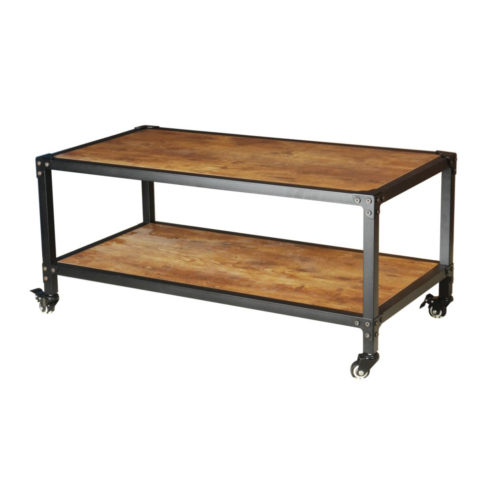 Antiqued black coffee table by urban port ebay for Coffee table urban